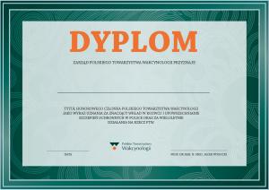 Dyplom honorowego członka PTW